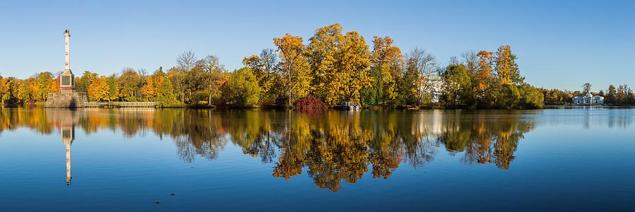 俄罗斯园林秋景图片