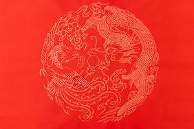 龙凤呈祥烫金背景纸图片