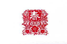 新年春节剪纸图片