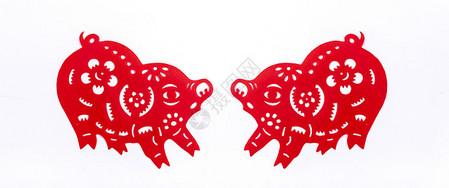 2019猪年剪纸图片