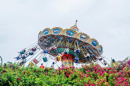 芽庄珍珠岛游乐园飞椅图片