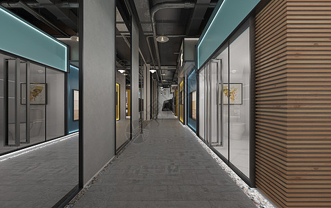 现代走廊图片
