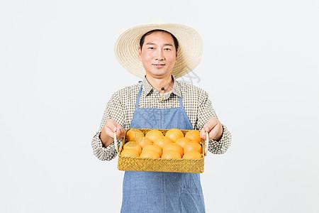 果农橙子丰收图片