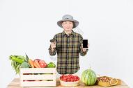 农民新鲜果蔬扫码支付图片