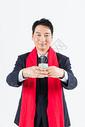 新春商务男性敬茶501085502图片
