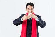 新春商务男性敬茶501085503图片