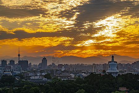 夕阳下的北京图片