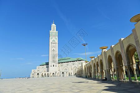 摩洛哥卡萨布兰卡的哈桑二世清真寺图片