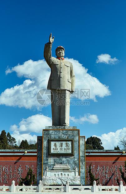 云南丽江市毛泽东像图片