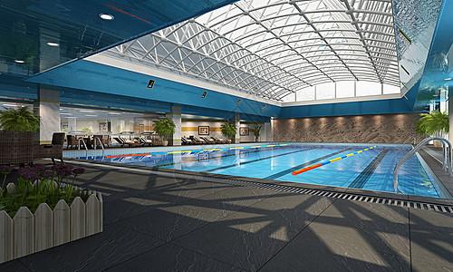 现代游泳池图片