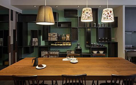 现代餐厅展示柜图片
