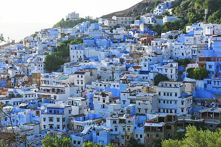摩洛哥蓝色之城舍夫沙万图片