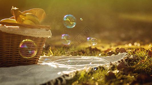 午后悠闲的野餐图片