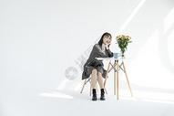 文艺少女图片