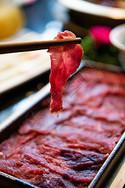 火锅食材牛肉片图片
