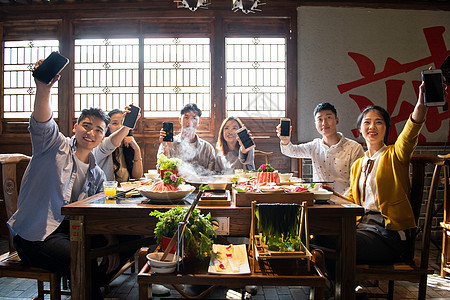 吃火锅手机展示图片