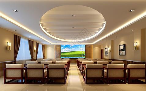 中式会议室图片