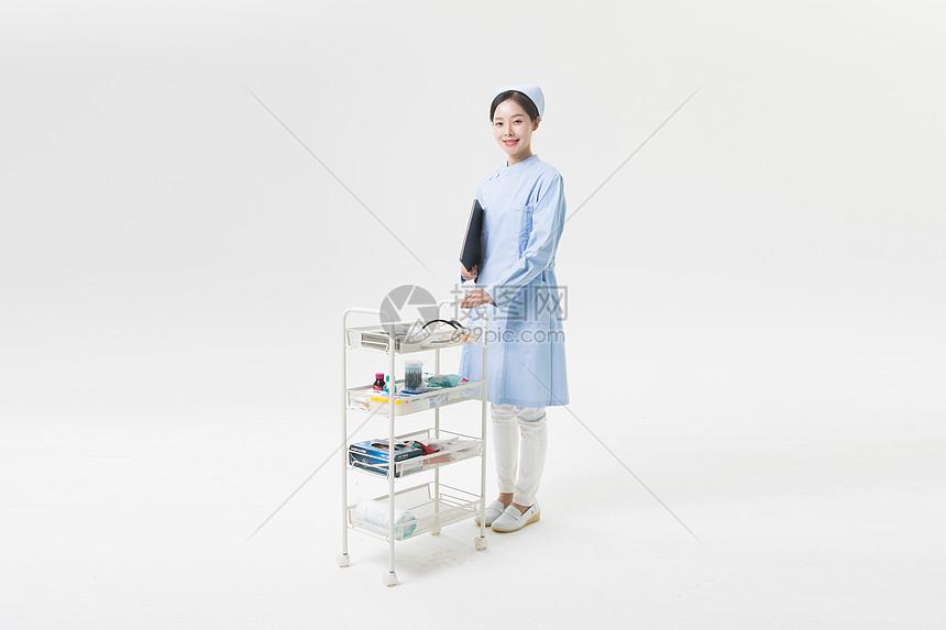护士医疗用品车图片
