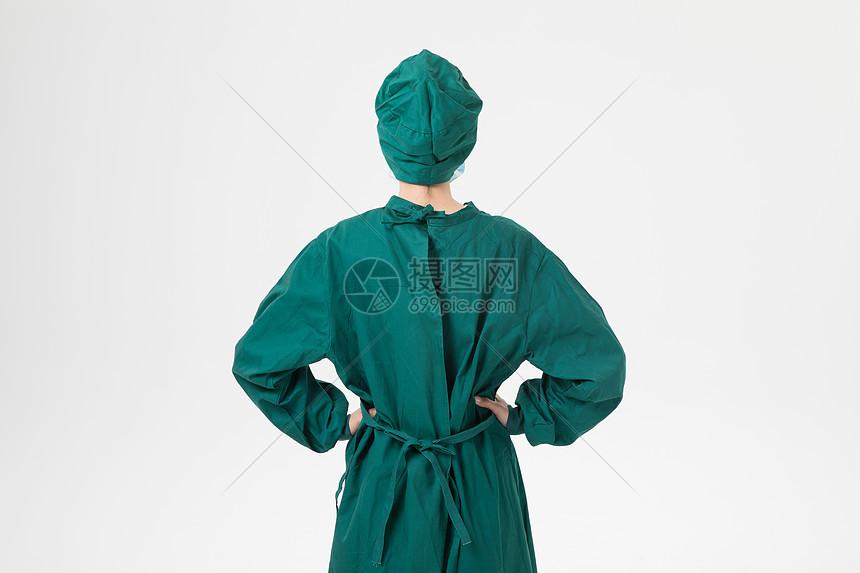 医生手术服背影图片