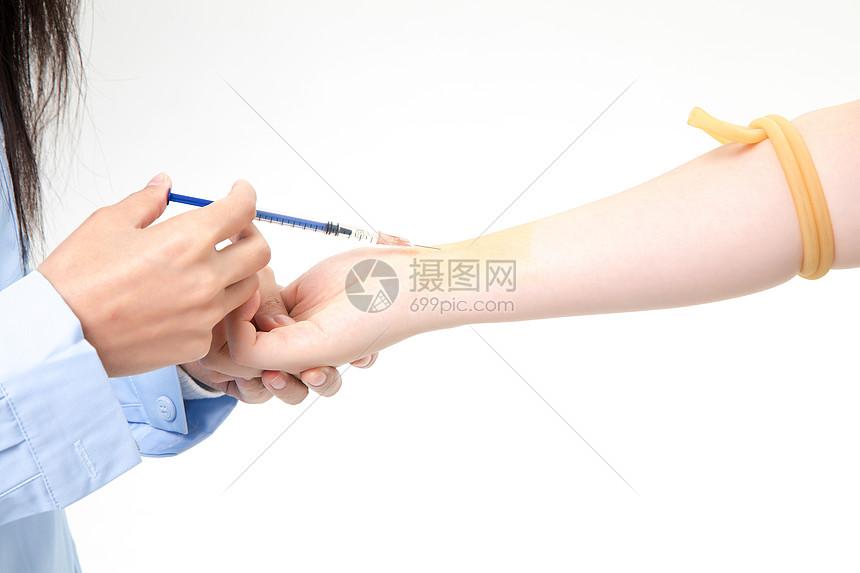 患者打针图片