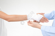 手掌受伤包扎图片