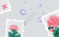 现代抽象花纹背景墙图片
