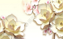 现代花朵背景墙图片