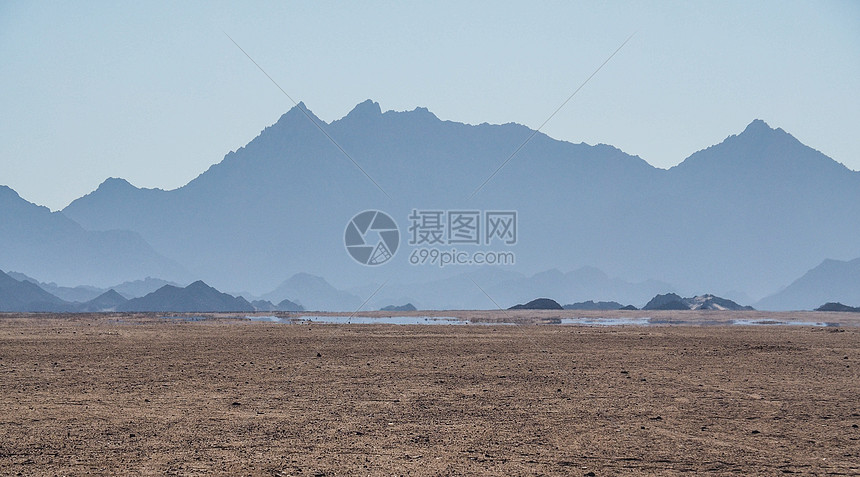 撒哈拉沙漠水源海市蜃楼图片