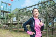 女性运动健身点赞形象图片
