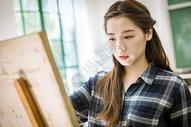 文艺女生绘画图片
