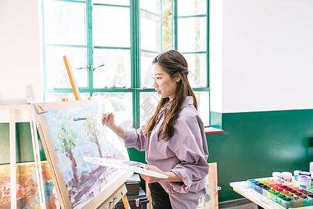 文艺青年画油画图片