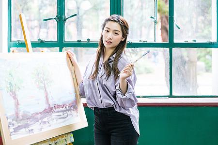 女性绘画作品展示图片