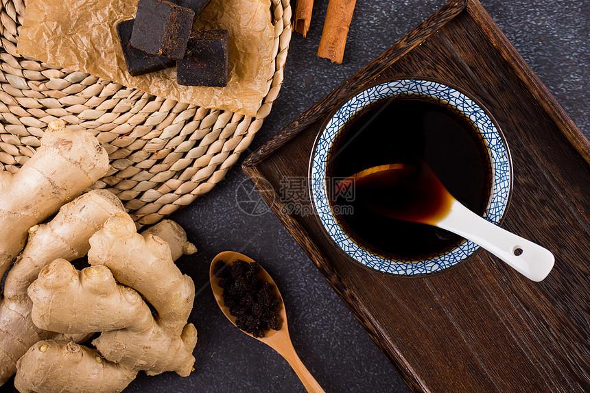 暖胃的红糖姜茶图片