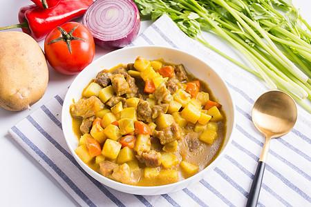 咖喱土豆牛肉饭图片