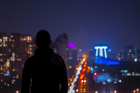 夜景剪影图片