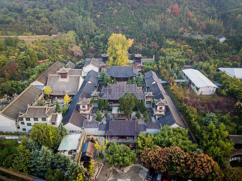 西安古观音禅寺航拍图片