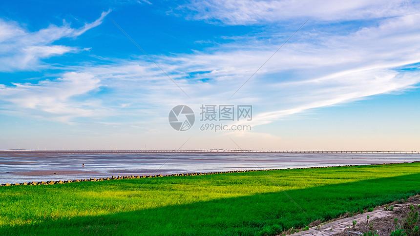 上海南汇嘴自然风光图片
