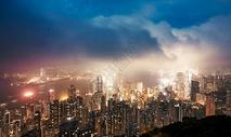 香港维多利亚港全景图片