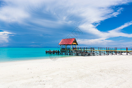 马来西亚沙巴环滩岛海滩图片