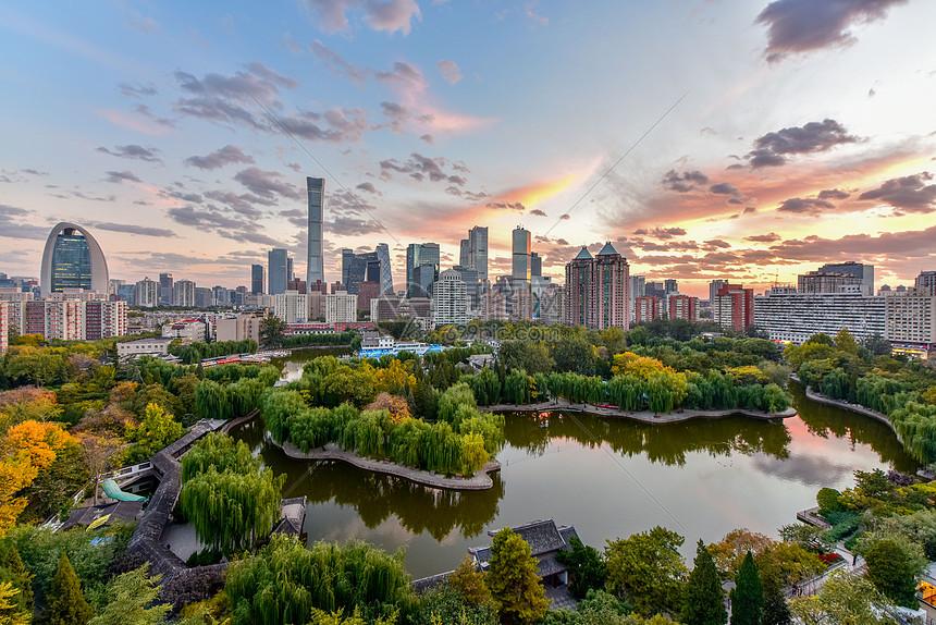 北京CBD团结湖公园图片