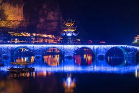 贵州镇远古城夜景图片