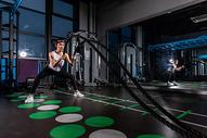 健身美女战绳训练501101642图片