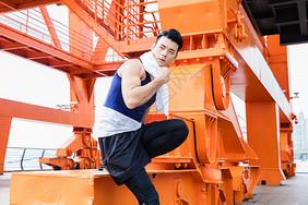 锻炼男性歇息图片