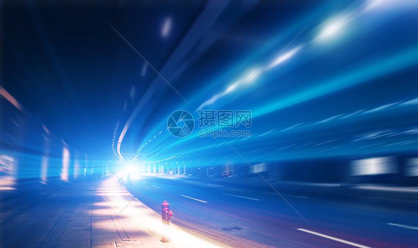汽车公路光轨图片