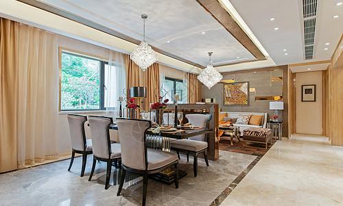 后现代客厅餐厅图片