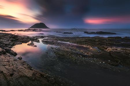 广东省惠州市盐洲岛屿日出图片