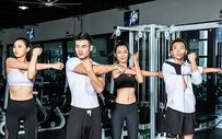健身房团队热身运动501103108图片