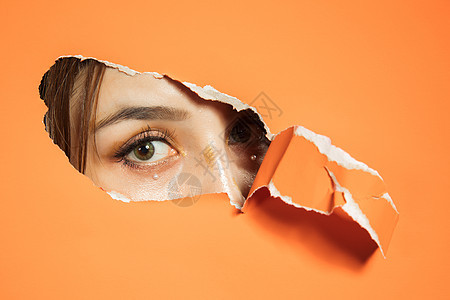 女性眼睛细节创意图片