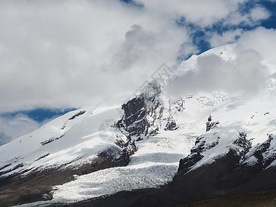 新疆雪山特写图片