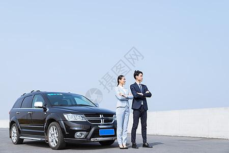 汽车生活户外商务团队图片